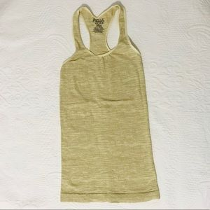 Free People Gold Stretchy Tank Top